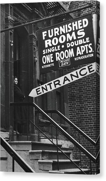 Furnished Rooms Canvas Print by Fred W. McDarrah