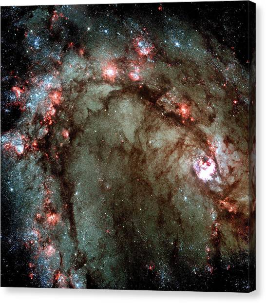 Canvas Print featuring the photograph Galaxy M83 Star Birth Outer Space Image by Bill Swartwout Fine Art Photography