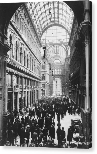 Galleria Umberto Canvas Print by General Photographic Agency