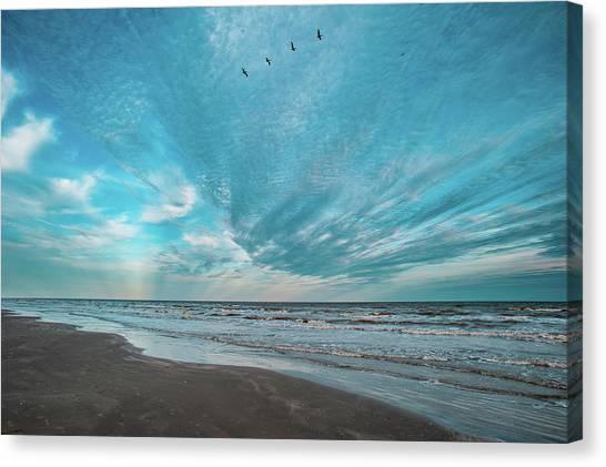 Galveston Island First Light Canvas Print