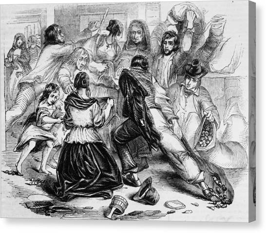 Galway Starvation Riots Canvas Print by Illustrated London News