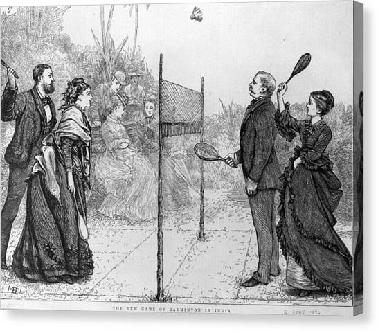 Freight Canvas Print - Game Of Badminton by Hulton Archive