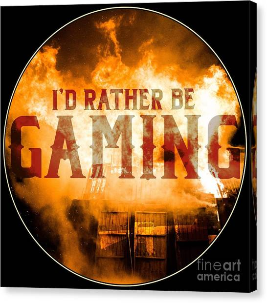 Call Of Duty Canvas Print - Gaming Artwork Id Rather Be Gaming Explosion by Festivalshirt