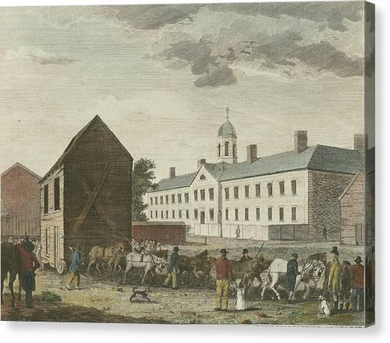 Gaol In Walnut Street Canvas Print