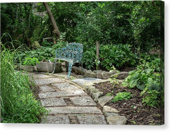 Canvas Print featuring the photograph Garden Bench by Dale Kincaid