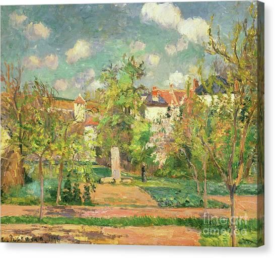 Jardin Canvas Print - Garden, Circa 1876 by Camille Pissarro
