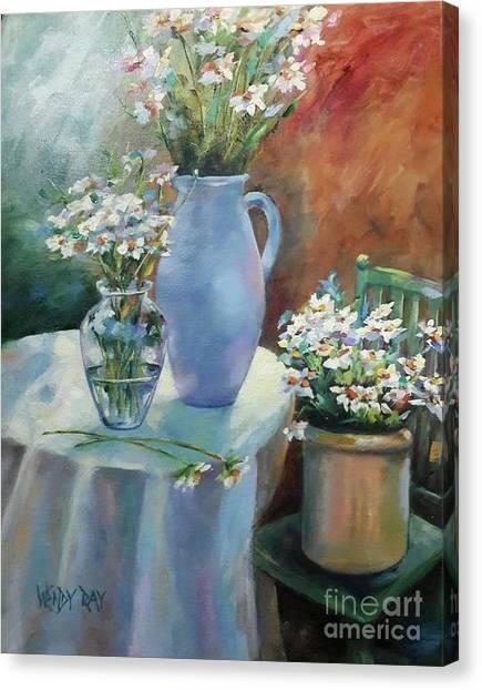 Garden Daisies Canvas Print