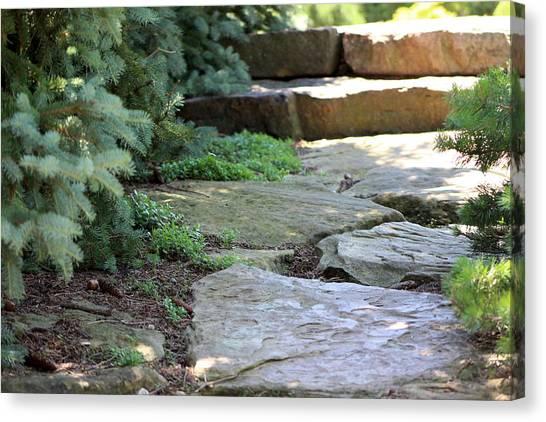 Garden Landscape - Stone Stairs Canvas Print