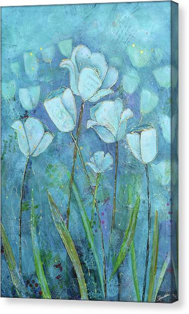 Perennial Canvas Print - Garden Of Healing by Shadia Derbyshire