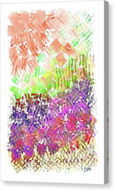 Garden Of Orange And Pink Canvas Print