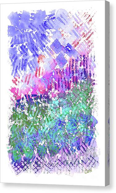 Garden Of Purple And Green Canvas Print
