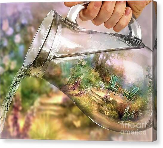 Garden Reflections Canvas Print
