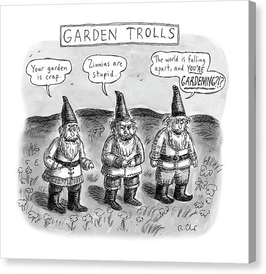 Garden Trolls Canvas Print
