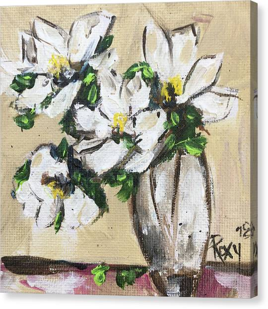 Farmhouse Canvas Print - Gardenias by Roxy Rich