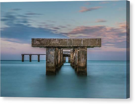 Gasparilla Island Pier Canvas Print