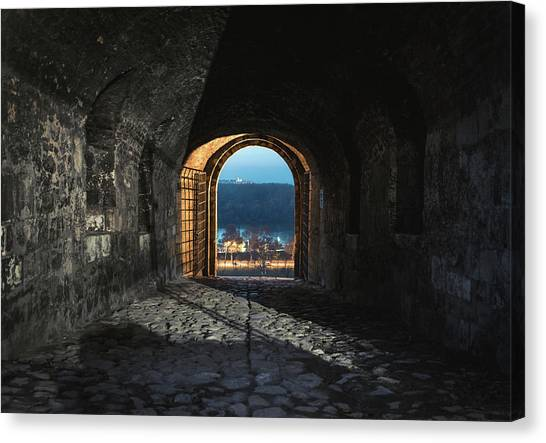 Canvas Print featuring the photograph Gate At Kalemegdan Fortress, Belgrade by Milan Ljubisavljevic