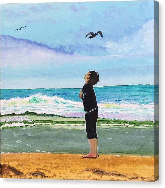 Gazing At Gulls Canvas Print