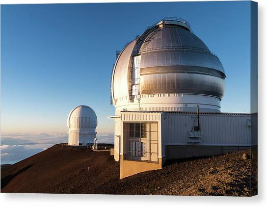 Canvas Print featuring the photograph Gemini Observatory by William Dickman