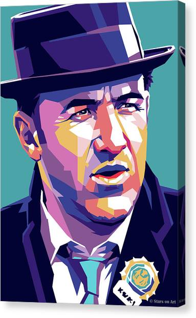 French Canvas Print - Gene Hackman by Stars-on- Art
