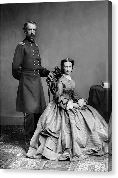 Last Canvas Print - General Custer And His Wife Libbie by War Is Hell Store