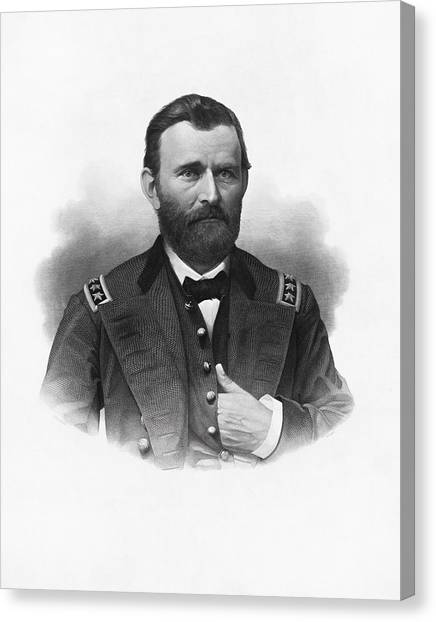 U. S. Presidents Canvas Print - General Grant Engraved Portrait by War Is Hell Store