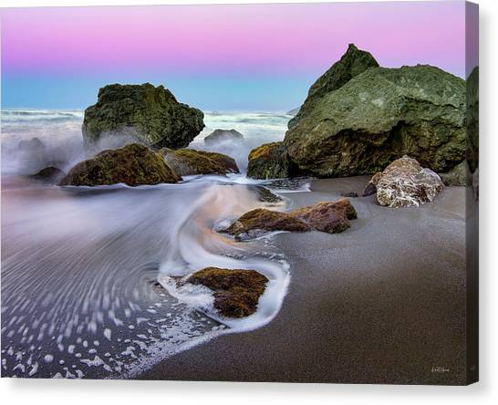 Canvas Print featuring the photograph Gentle Waves by Leland D Howard