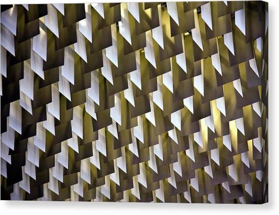 Geometric Ceiling Canvas Print by Gerard Hermand