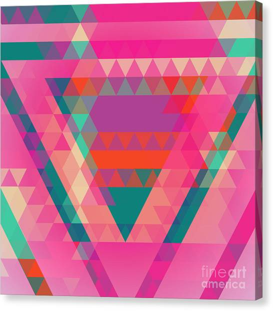 Purple Canvas Print - Geometric Colorful Abstract Background by Olha Kostiuk