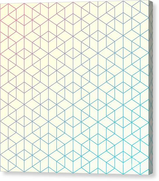 Empty Canvas Print - Geometric Pattern Of Intersecting by Vector Fx