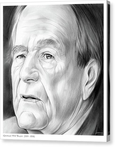 Bush Canvas Print - George Hw Bush 1924 - 2018 by Greg Joens