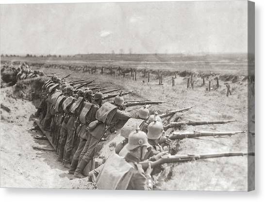 German Trench Canvas Print by Fpg