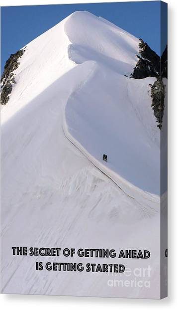 Ice Climbing Canvas Print - Getting Ahead I by DiFigiano Photography