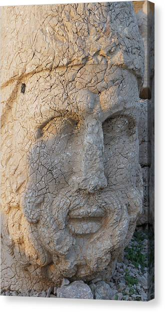 Giant Head Of Heracles,  Tumulus Canvas Print