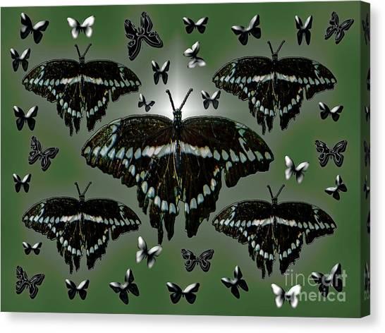 Giant Swallowtail Butterflies Canvas Print