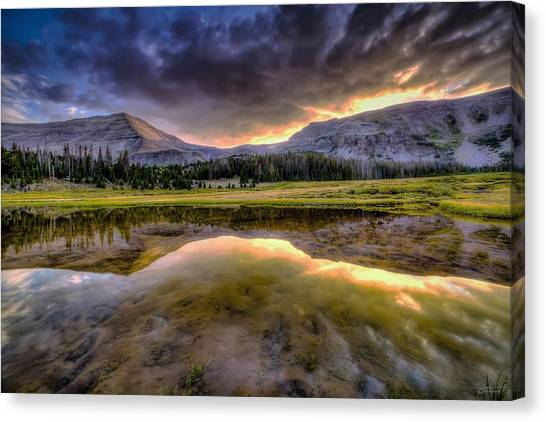 Uinta Canvas Print - Gilbert Peak Reflection by James Zebrack