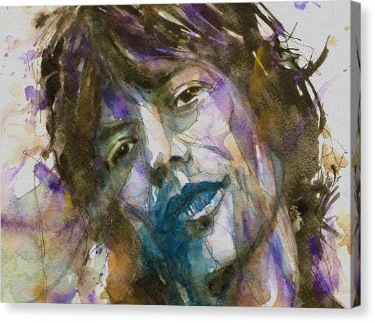 Rolling Stones Canvas Print - Gimme Shelter - Mick Jagger - Resize Crop  by Paul Lovering