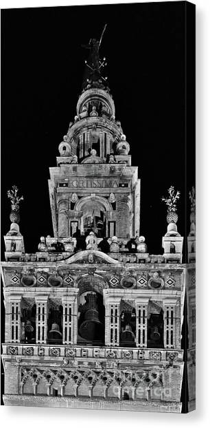 Giralda Tower In Monochrome. Seville Canvas Print