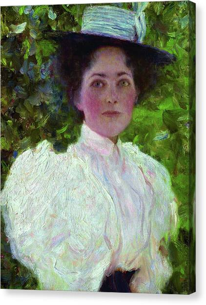 Lady In Hat Canvas Print - Girl In The Foliage fa3592cd65a