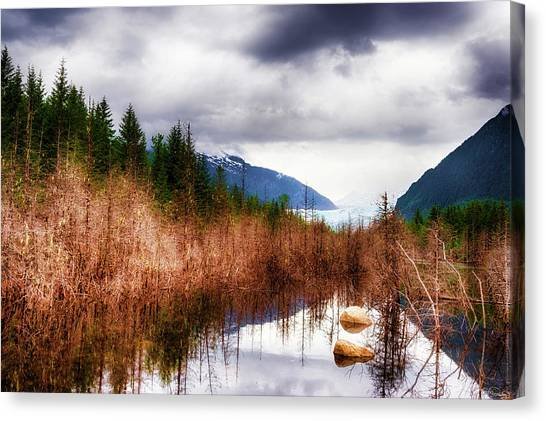 Canvas Print featuring the photograph Glacial Waters by Dee Browning
