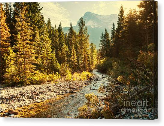 Cliffs Canvas Print - Glacier National Park, Montana by Galyna Andrushko