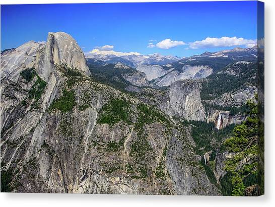 Canvas Print featuring the photograph Glacier Point Overlook by Dawn Richards