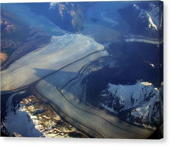 Glaciers Converge Canvas Print