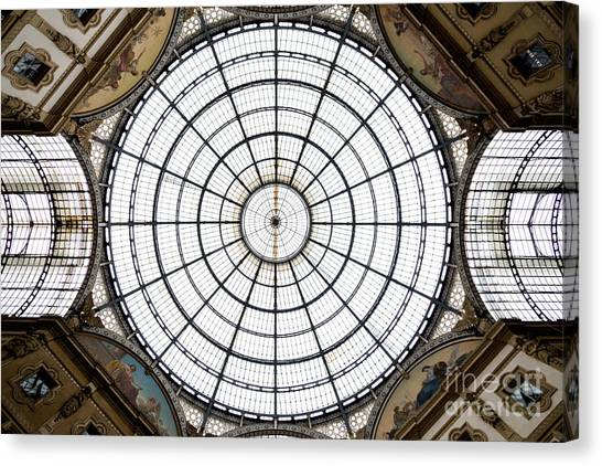Mall Canvas Print - Glass Dome. Urban Living, Abstract by Mervas