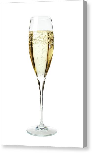 Glass Of Champagne Canvas Print by Gianluca Fabrizio