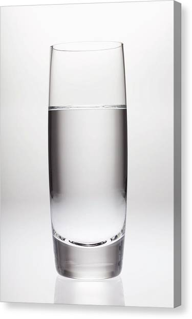 Glass Of Clean Water Canvas Print