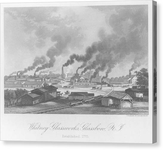 Glassworks In New Jersey Canvas Print by Kean Collection