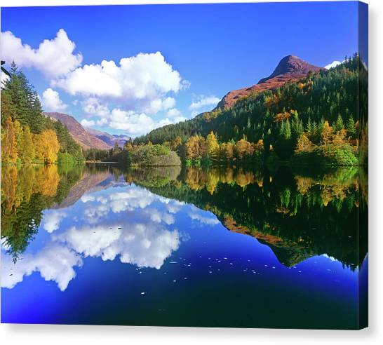 Glencoe Lochan, Scotland Canvas Print by Kathy Collins