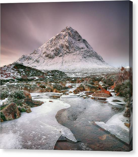Canvas Print featuring the photograph Glencoe Winter - Square by Grant Glendinning