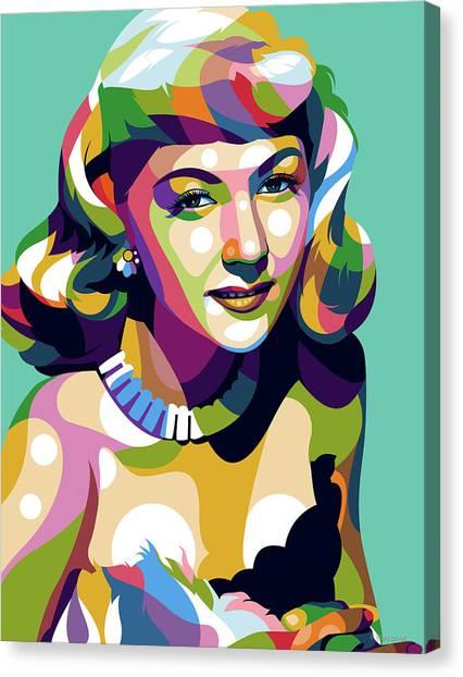 Gloria Graham Canvas Print