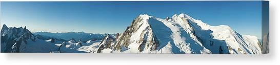 Ice Climbing Canvas Print - Glorious Mountain Vista Xxxl by Fotovoyager